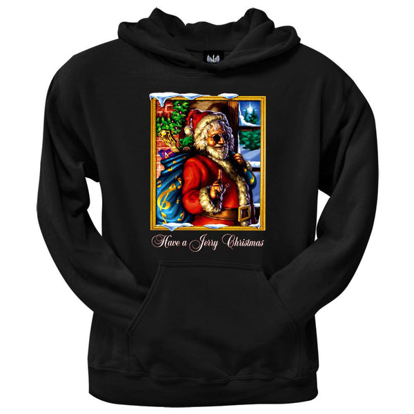 Grateful Dead - Jerry Garcia Christmas Black Pullover Hoodie