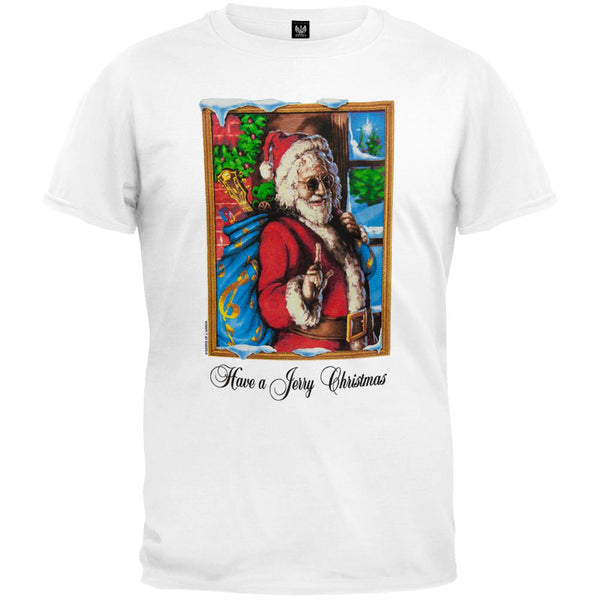Grateful Dead - Jerry Garcia Christmas White T-Shirt