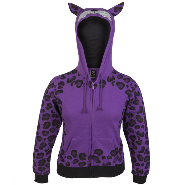 Cheetah Spots Girls Youth Hoodie With Face