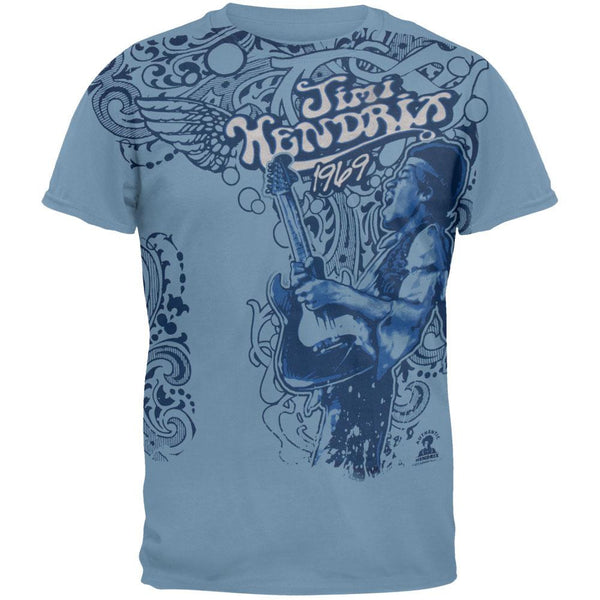 Jimi Hendrix - Paisely 1969 Soft T-Shirt