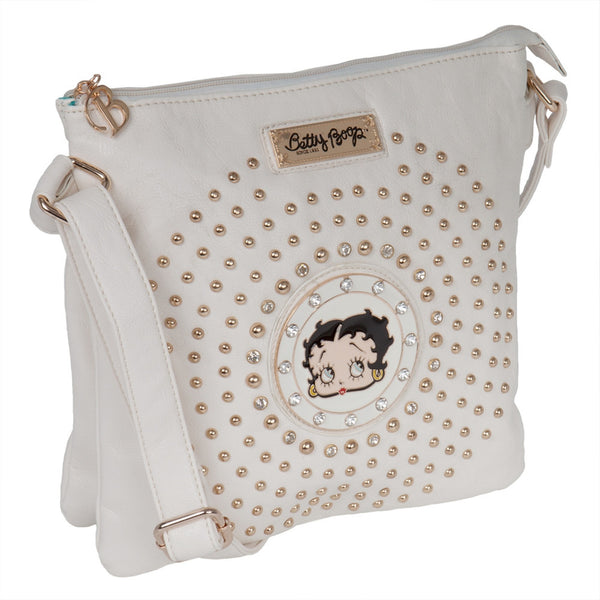Betty Boop - Circle Betty Off-White Compartment Purse