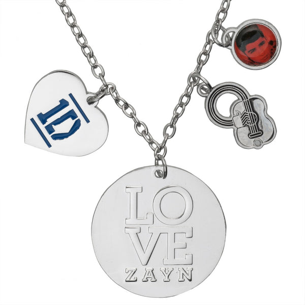 One Direction -  Heart Zayn Charm Necklace