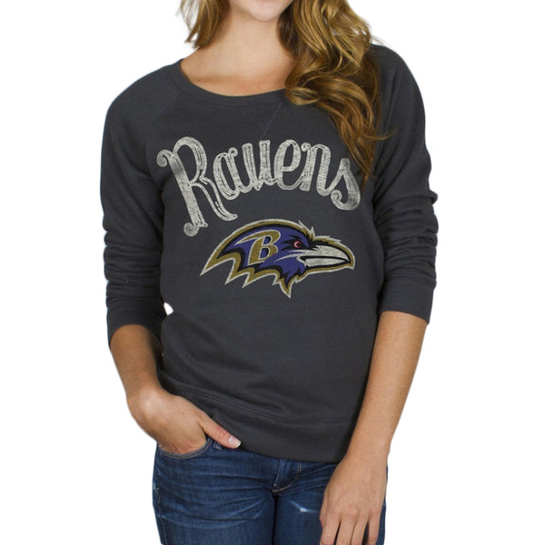 Baltimore Ravens - Field Goal Juniors Wide Neck Sweatshirt