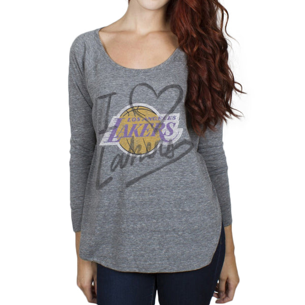 Los Angeles Lakers - Time-Out Tri-Blend Juniors Long Sleeve Slouch