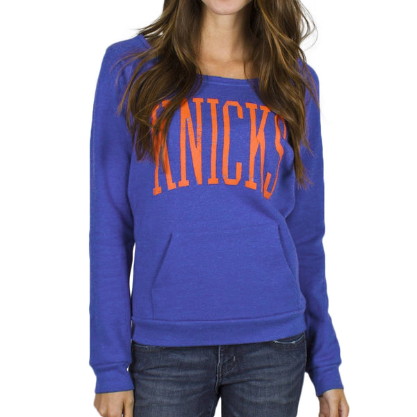 New York Knicks - Fadeaway Slouch Neck Juniors Sweatshirt