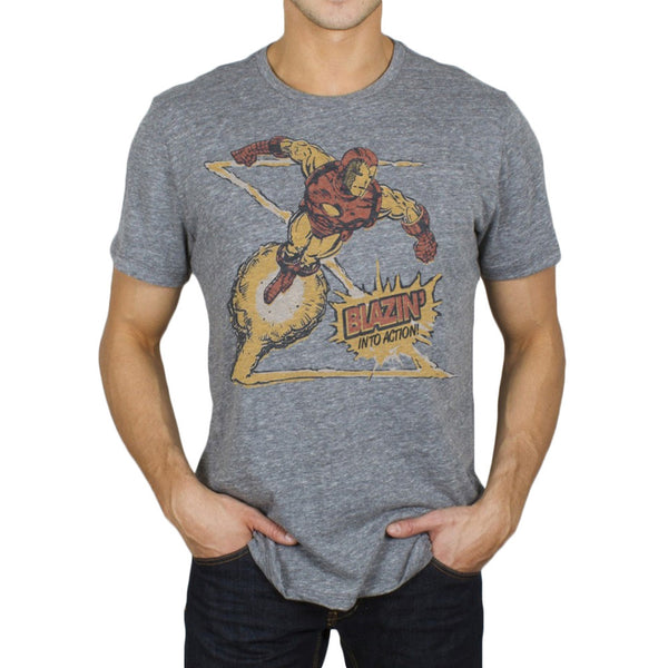 Iron Man - Blazin' Into Action Soft T-Shirt