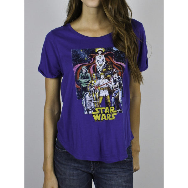 Star Wars - Comic Book Poster Juniors T-Shirt