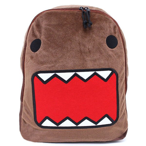 Domo - Big Face Brown Plush Backpack