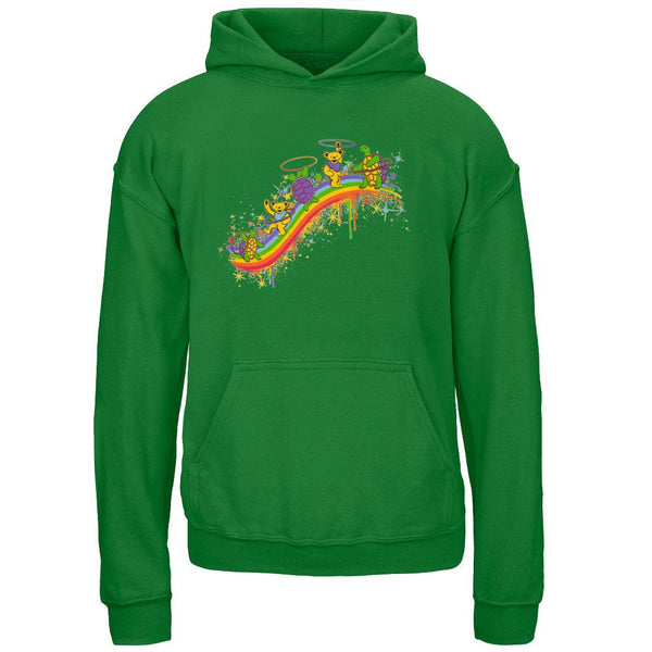 Grateful Dead - Rainbow Hoopers Irish Green Youth Hoodie