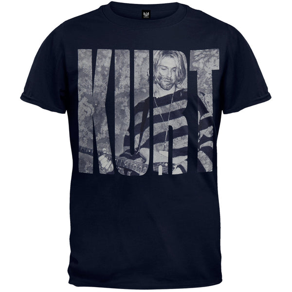 Kurt Cobain - Photo Logo T-Shirt