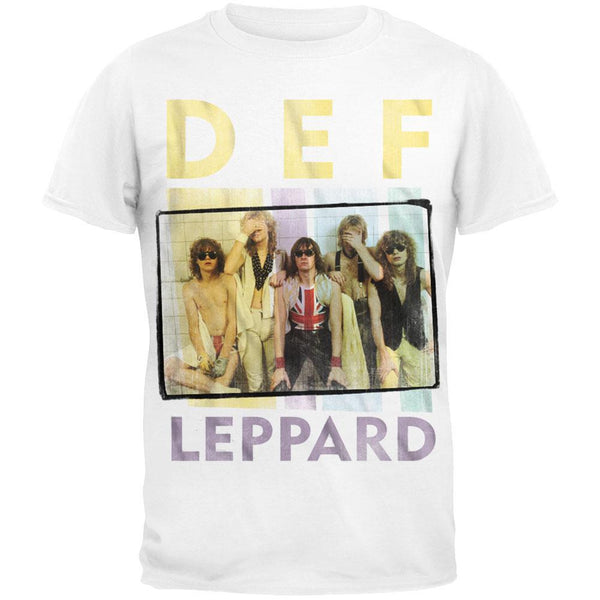 Def Leppard - Square Box Photo Logo T-Shirt