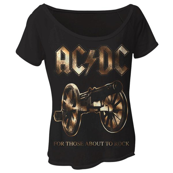 AC/DC - For Those About To Rock Juniors Dolman T-Shirt