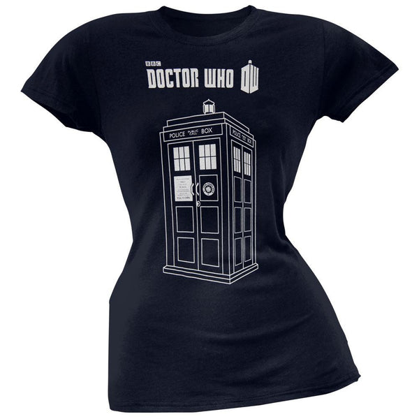 Doctor Who - Series 7 Linear Tardis Juniors T-Shirt