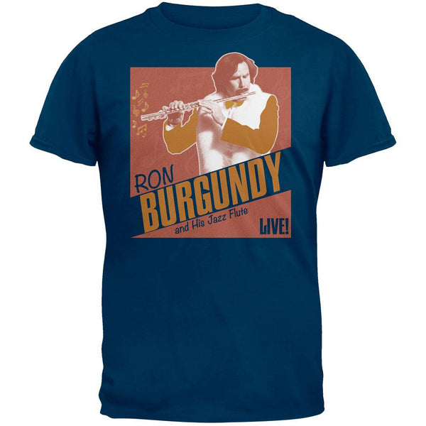 Anchorman 2 - Ron Burgandy and His Jazz Flute Soft T-Shirt