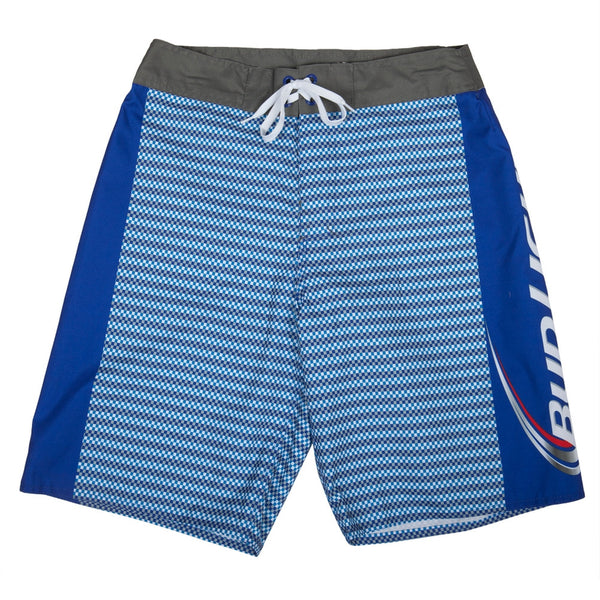 Bud Light - Logo Textured Print Blue Board Shorts