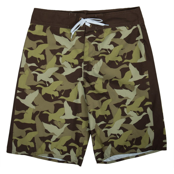 Duck Dynasty - Duck Camo Print Brown Board Shorts