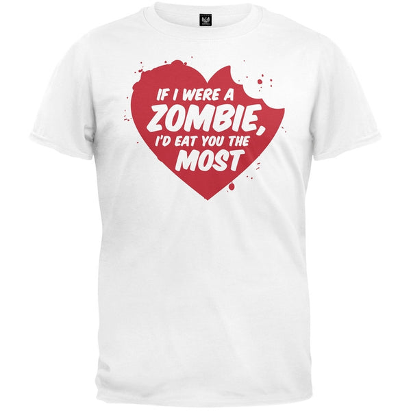 Valentine's Day - If I Were A Zombie T-Shirt