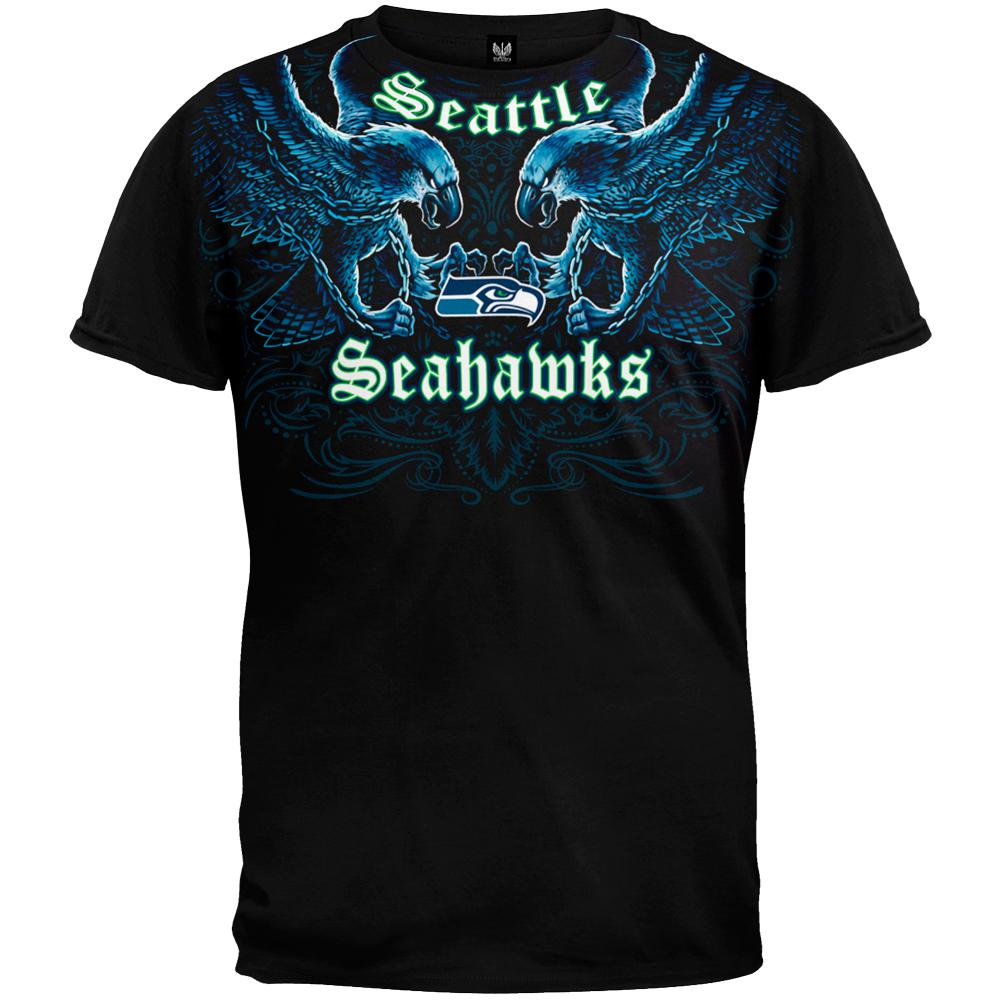 Seattle Seahawks - Face Off T-Shirt – OldGlory.com 9b0d269ea