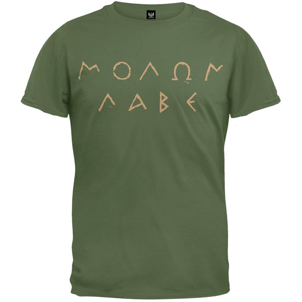 Molon Labe Ancient Greek Letters Military Green T-Shirt