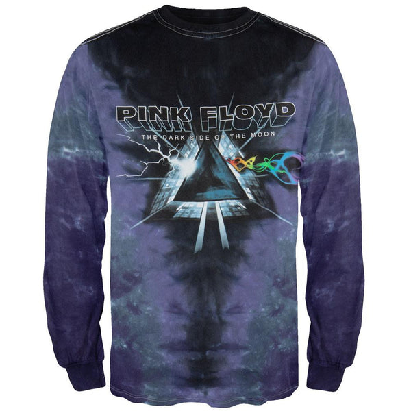 Pink Floyd - Dark Side Vortex Tie Dye Long Sleeve T-Shirt