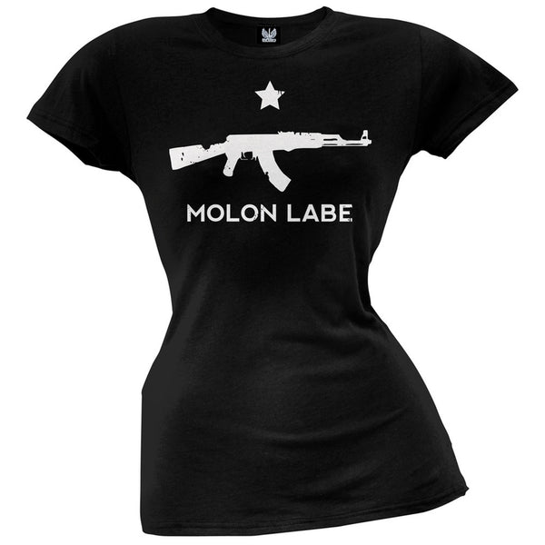 Molon Labe AK47 Black Juniors T-shirt