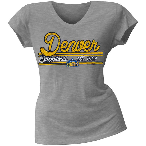 Denver Nuggets - Center Juniors V-Neck T-Shirt