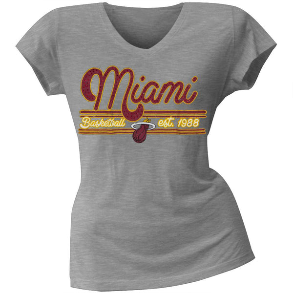 Miami Heat - Center Juniors V-Neck T-Shirt