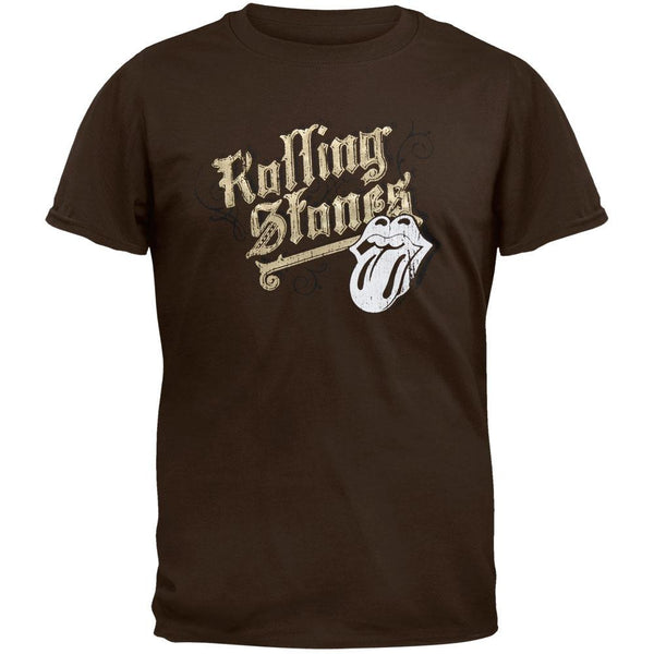 Rolling Stones - Gold Logo Soft T-Shirt