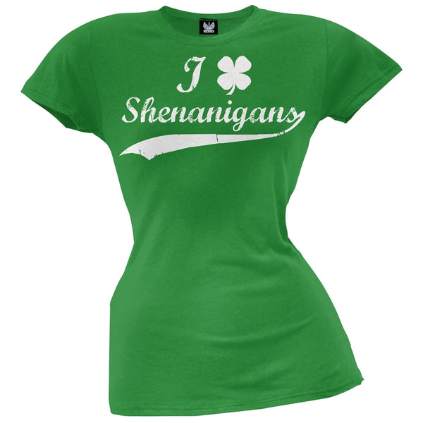 St. Patricks Day - Shamrock Shenanigans Juniors T-Shirt