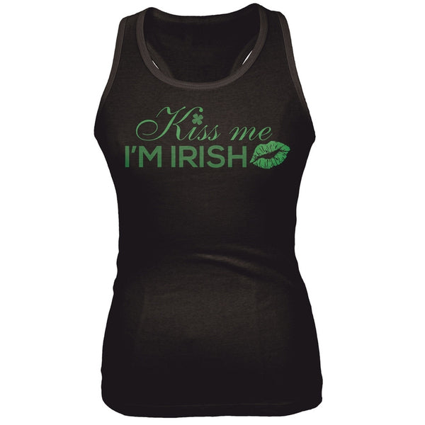 Kiss Me I'm Irish Juniors Tank Top