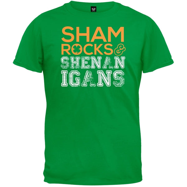 St. Patricks Day - Shamrocks & Shenanigans Irish Green Adult T-Shirt