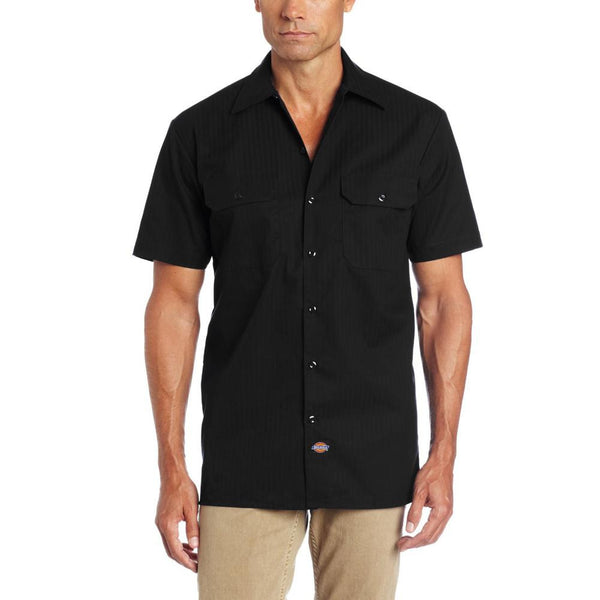 Dickies - 515 Black Twill Stripe Short Sleeve Workshirt