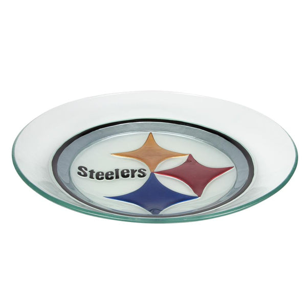 Pittsburgh Steelers - Logo Glass Bird Bath
