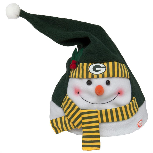 Green Bay Packers - Animated Snowman Musical Stocking Hat