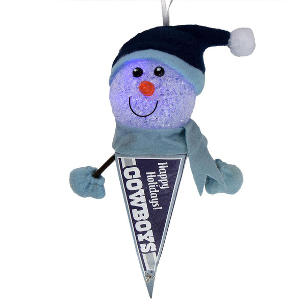 Dallas Cowboys - Light-Up Snowman Pennant Ornament