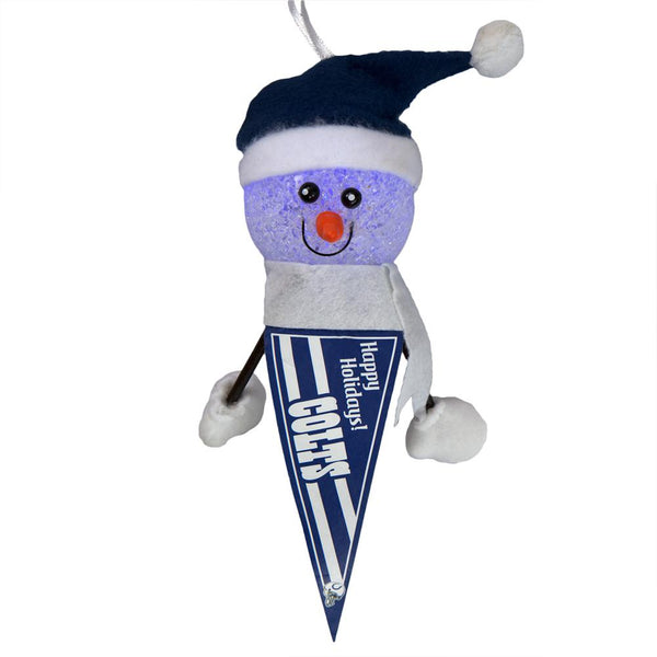 Indianapolis Colts - Light-Up Snowman Pennant Ornament