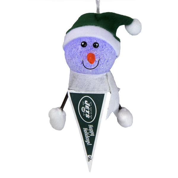 New York Jets - Light-Up Snowman Pennant Ornament