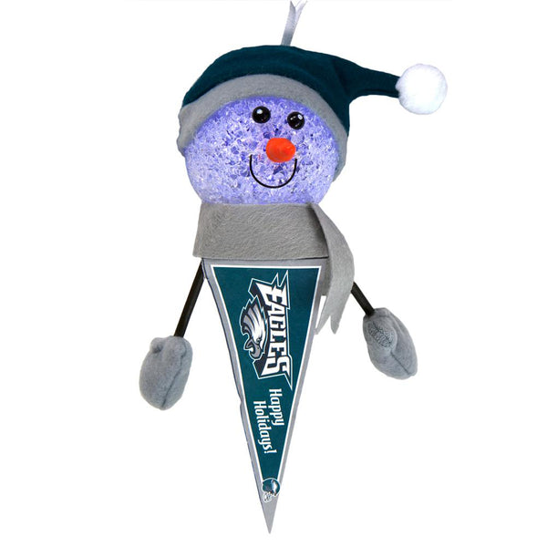 Philadelphia Eagles - Light-Up Snowman Pennant Ornament