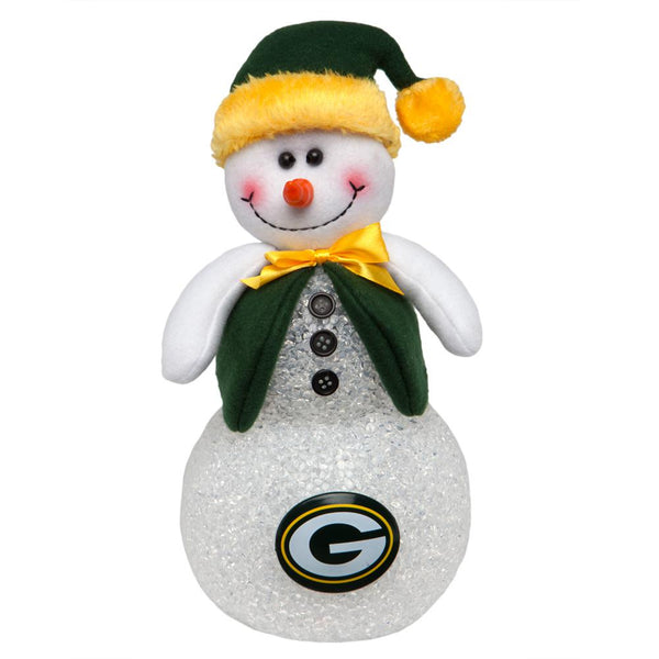 Green Bay Packers - Light-Up Tabletop Snowman