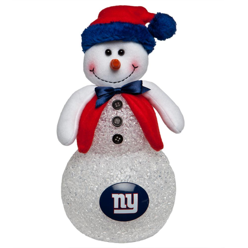 New York Giants - Light-Up Tabletop Snowman – OldGlory.com