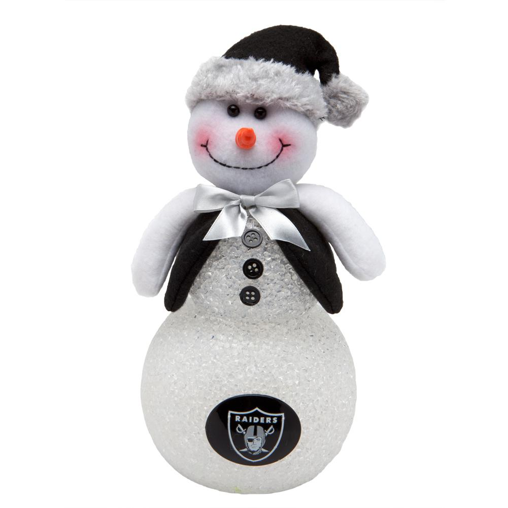 Oakland Raiders - Light-Up Tabletop Snowman – OldGlory.com