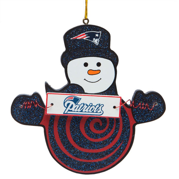 New England Patriots - Snowman With Sign Ornament