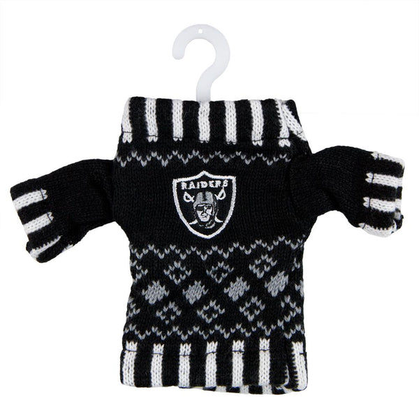 Oakland Raiders - Knit Sweater Ornament