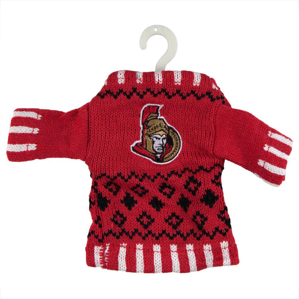 Ottawa Senators - Knit Sweater Ornament