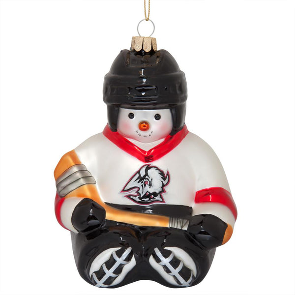 Buffalo Sabres - Snowflake Friend Glass Ornament