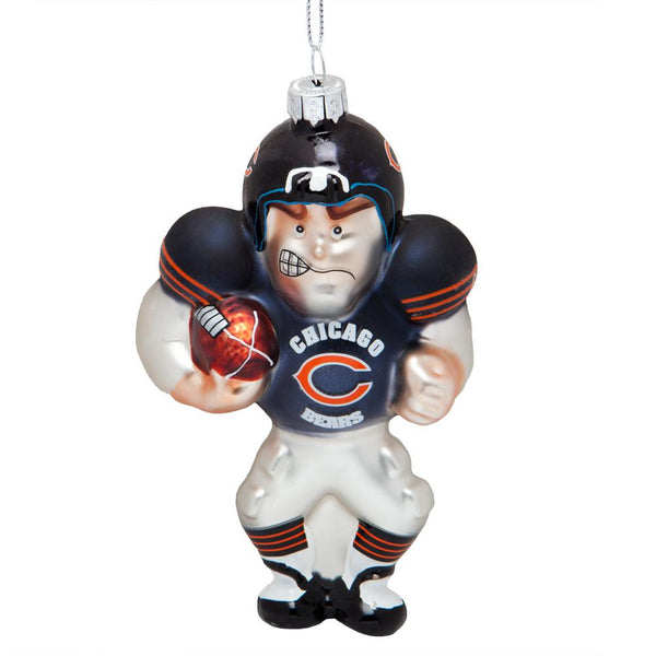 Chicago Bears - Blown Glass Football Player Ornament