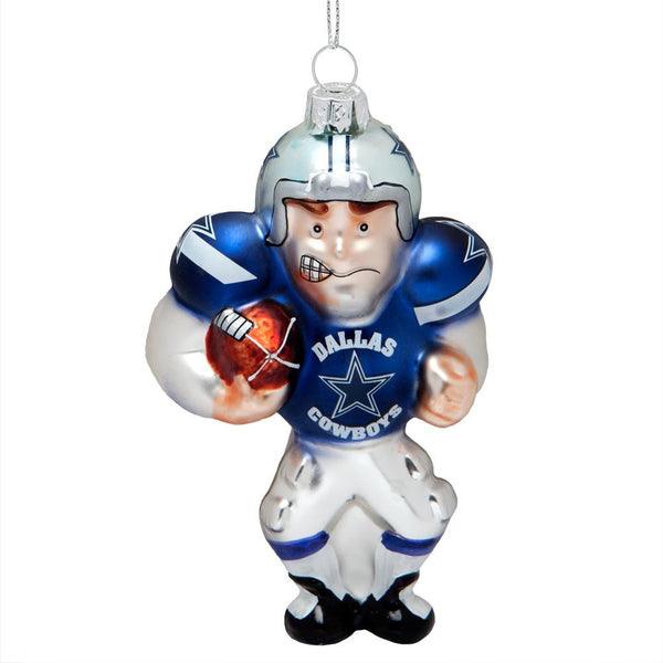 Dallas Cowboys - Blown Glass Football Player Ornament