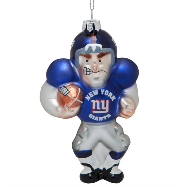 New York Giants - Blown Glass Football Player Ornament