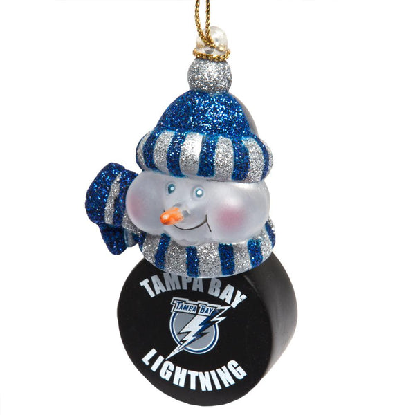 Tampa Bay Lightning - Snowman Puck Christmas Light-Up Ornament