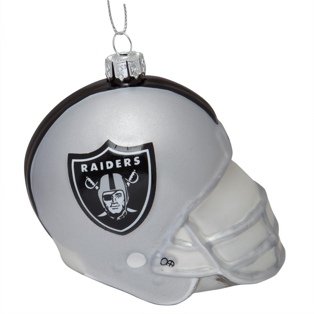 Oakland Raiders - Glass Helmet Ornament – OldGlory.com